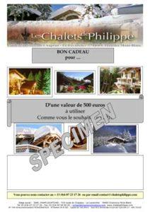 hôtel les chalets de philippe chamonix - bons cadeaux