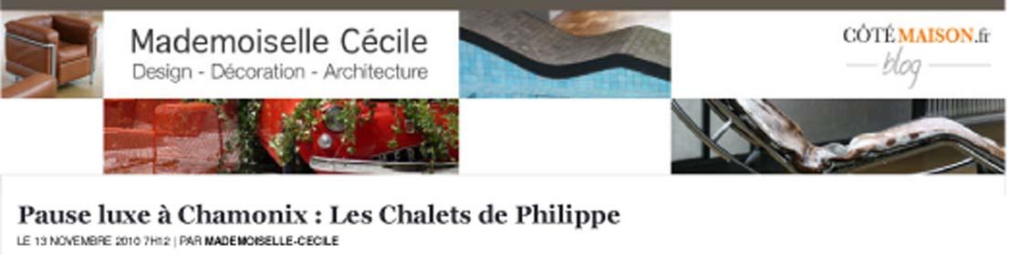 Les chalets secrets dans le bolg de mademoiselle Cécile