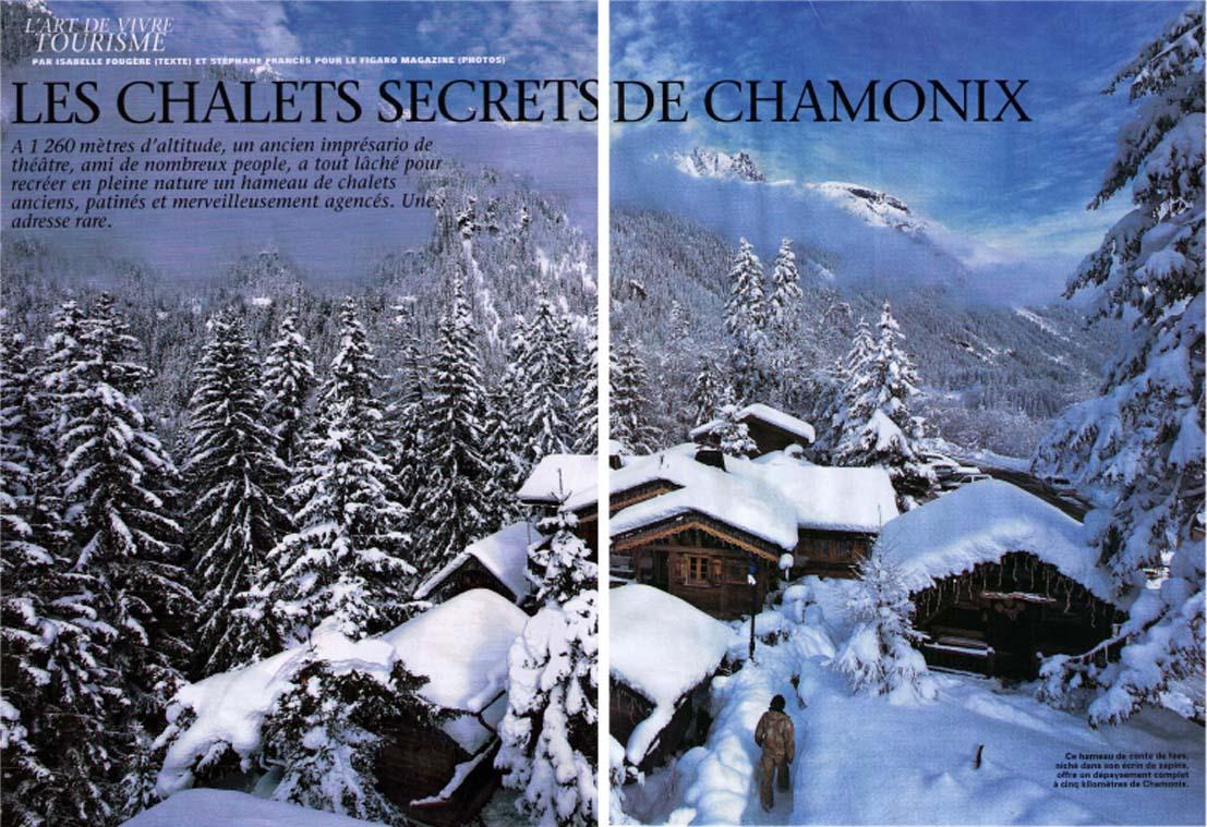Revue de presse les chalets secrets h tel les chalets de philippe chamonix mont blanc Les chalets de philippe chamonix