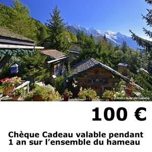 hotel les chalets de philippe chamonix - cheque cadeau 100 euros