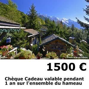 hotel les chalets de philippe chamonix - cheque cadeau 1500 euros