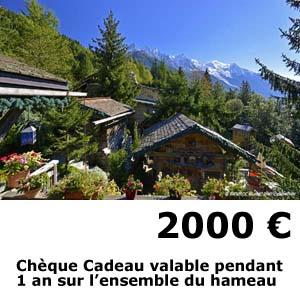 hotel les chalets de philippe chamonix - cheque cadeau 2000 euros