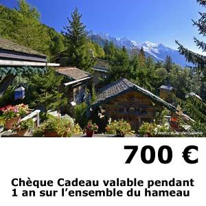 hotel les chalets de philippe chamonix - cheque cadeau 700 euros