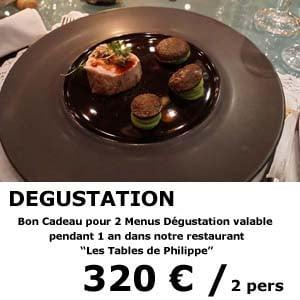 restaurant les tables de philippe chamonix - bon cadeau degustation