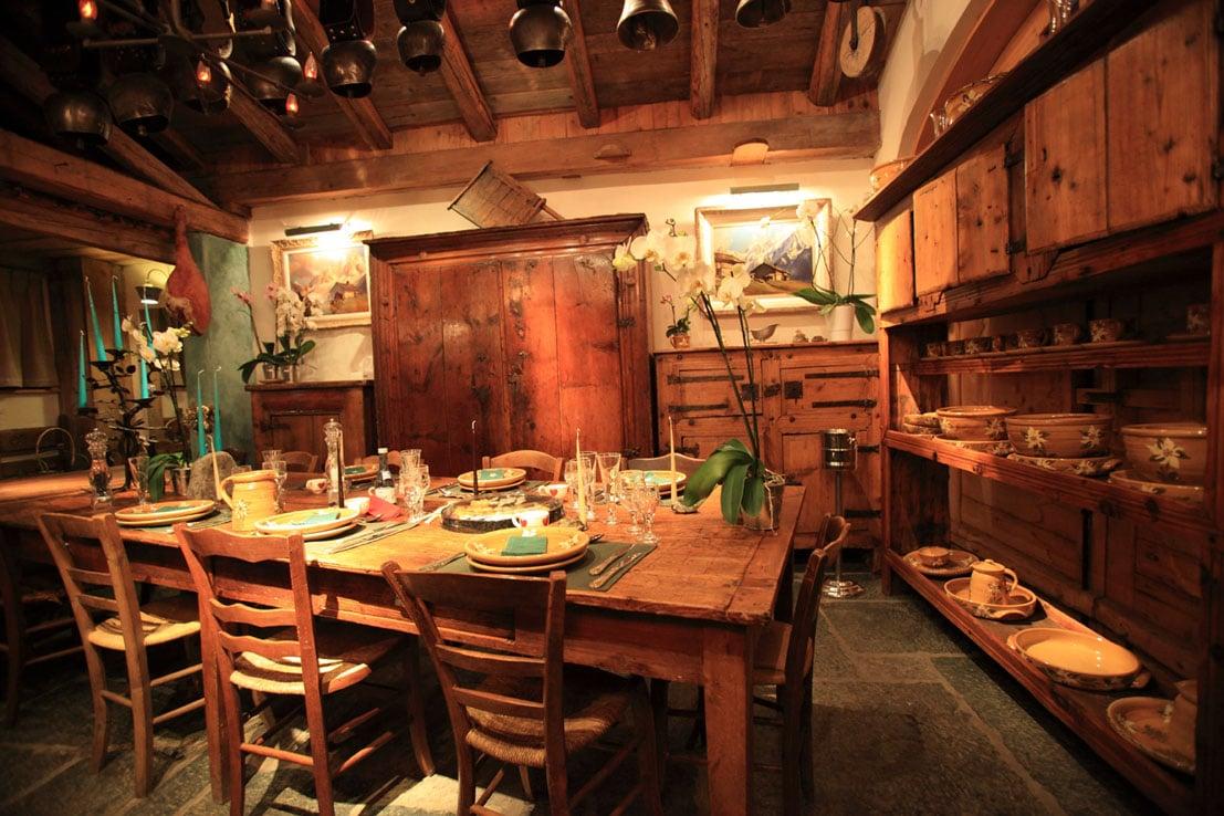 Salle à manger 17eme - Hôtel Les Chalets de Philippe Chamonix