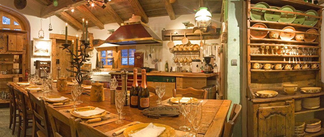 Salle à manger 17ème - Hôtel Les Chalets de Philippe Chamonix