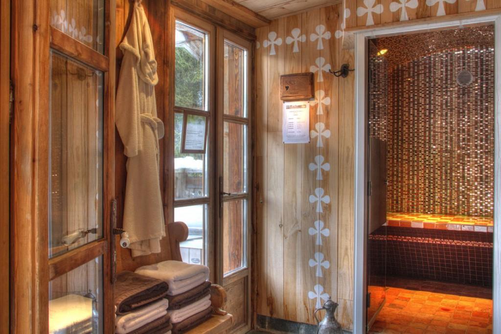 Chalet Les Trolles location chalet luxe spa privatif cheminée