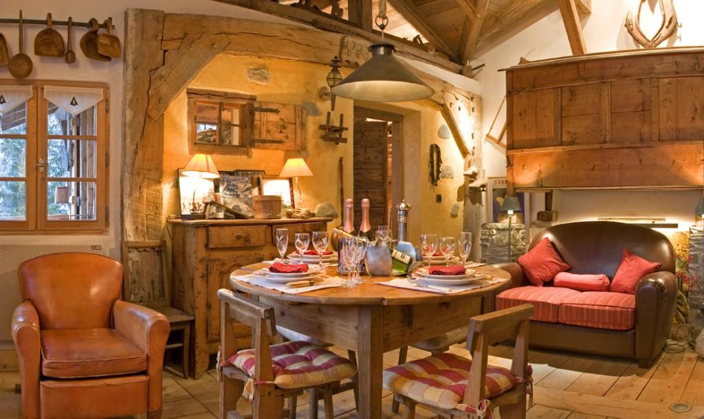 Chalet Les Trolles -Location chalet luxe spa privatif cheminée