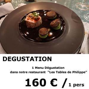 1 menu dégustation - restaurant les tables de philippe