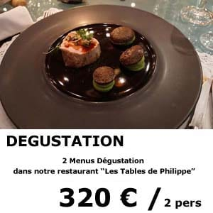 2 menus dégustation - restaurant les tables de philippe