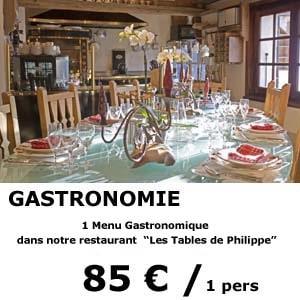 1 menu gastronomique - restaurant les tables de philippe