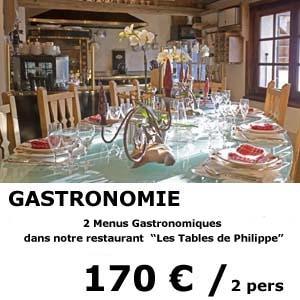 2 menus gastronomiques - restaurant les tables de philippe